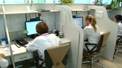 Call center of ambulance. Stock Footage
