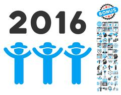 2016 Guys Dance Flat Vector Icon With Bonus Stock Illustration