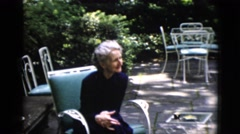 1952: older man and two older women conversing CAMDEN, NEW JERSEY Stock Footage