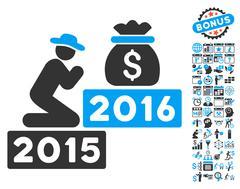 Pray For Money 2016 Flat Vector Icon With Bonus Piirros