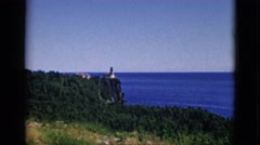 1952: mountain hilly greenery people walk watch view CAMDEN, NEW JERSEY Stock Footage