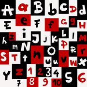 Background with letters and numbers Piirros