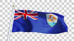 Anguilla flag, close up, isolated with alpha channel Stock Photos