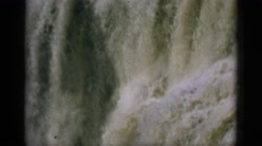 1952: the water is dirty and this is waterfall and everything is perfect  Stock Footage