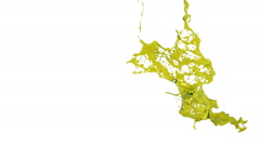 In slow motion yellow splash in the air. Colored paint Stock Footage