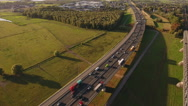 Early evening traffic, aerial footage. Stock Footage
