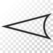 Arrowhead Left Vector Icon Stock Illustration