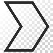 Arrowhead Right Vector Icon Stock Illustration