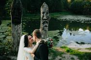Young bridal couple Stock Photos
