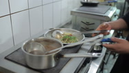 The man cook the indiand dishes in the restaurant Stock Footage