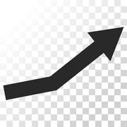 Growth Trend Vector Icon Stock Illustration