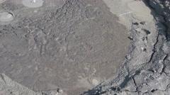 Mud volcano bubble boiling sulfur strange phenomenon detail 4k UHD Stock Footage