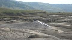 Mud volcano bubble boiling sulfur strange phenomenon detail zoom in 4k UHD Stock Footage
