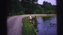 1974: people outdoor enjoying the lake. DILLER, NEBRASKA Stock Footage