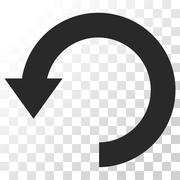Rotate Down Vector Icon Stock Illustration