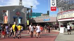Welcome to Universal Orlando Resort. Universal studios walkway. Stock Footage