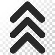 Triple Arrowhead Up Vector Icon Stock Illustration