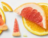 Grapefruit and orange pattern Stock Photos