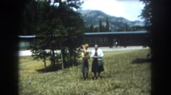 1962: two women looks lost and trying to find their way MINNESOTA Stock Footage