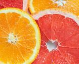 Background with citrus-fruit of Fresh  slices Stock Photos