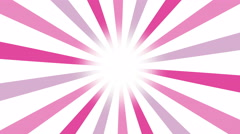 Multicolor pinky sunburst vector background. Feminine pink tones Retro Pattern. Stock Footage
