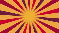 Multicolor Burst vector background. Cartoon sun light yellow sky Background Stock Footage