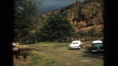 1962: mountain hilly greenery people walk watch view walking NORTH DAKOTA Stock Footage