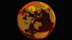 4k Earth animation loop. Dots on black Stock Footage