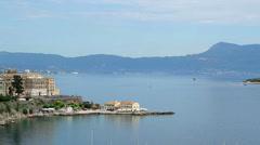Bay in corfu island Stock Footage