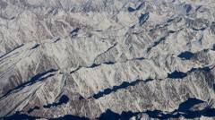 Flight over Pamir and Tien Shan 3 Stock Footage