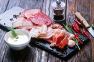Delicious and tasty meat dishes Stock Photos