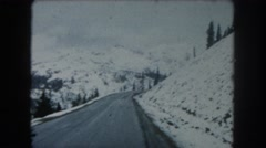 1962: midday transporting while on the dangerous frosty roads COLORADO Stock Footage