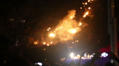 02.08.2015 - Garachico. Tenerife. Memorial of  the volcanic eruption in 1706 Stock Footage
