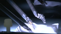 Surgical equipment Demonstration. Stock Footage