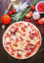 Ingredients for pizza Stock Photos