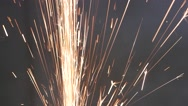 Sparks Frying During Metal Grinding Stock Footage