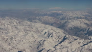 Flight over Pamir and Tien Shan Stock Footage
