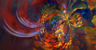 4K abstract colorful spiral motion background seamless looping fractal Stock Footage