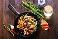 Fried mushrooms Stock Photos