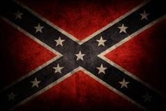 Closeup of grungy Confederate flag Stock Photos