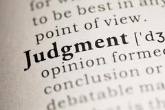 Judgment Stock Photos