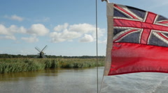 Sailing along the Broads National Park Stock Footage