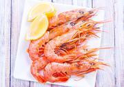 Boiled shrimps Stock Photos