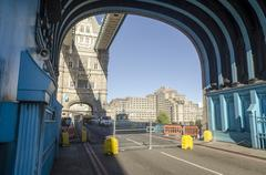 Tower Bridge is now closed for major repairs until end of December 2016 Stock Photos