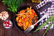 Fried vegetables Stock Photos
