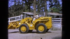 1965: the large heavy lifting rig begins it work for the day MEXICO Stock Footage