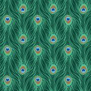Peacock feather seamless pattern Piirros