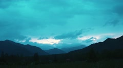 Timelapse: sunrise sunset in the altay Stock Footage