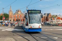 Amsterdam. The main railway station. Stock Photos