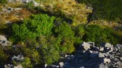 Croatian coast on Adriatic Sea Stock Footage